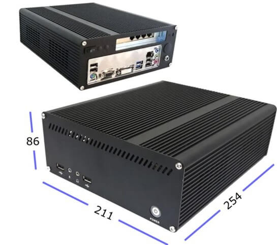 Mini-PC 311x241x65mm für Open Source Firewall